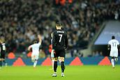 1st November 2017, Wembley Stadium, London, England; UEFA Champions League, Tottenham Hotspur versus Real Madrid; A dejected Cristiano Ronaldo of Real Madrid after Christian Eriksen scores making it 3-0