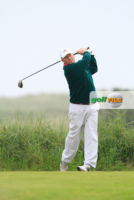 Niall Goulding (Portmarnock) on the 10th tee during Round 1 of the East of Ireland in the Co. Louth Golf Club at Baltray on Saturday 31st May 2014.<br /> Picture:  Thos Caffrey / www.golffile.ie