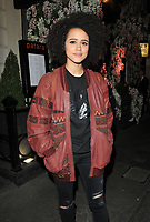 Nathalie Emmanuel at the Bradley Theodore: Second Coming VIP preview, Maddox Gallery Mayfair, Maddox Street, London, England, UK, on Wednesday 19 April 2017.<br /> CAP/CAN<br /> &copy;CAN/Capital Pictures
