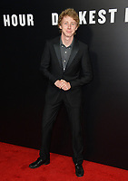 Joey Luthman at the premiere for &quot;Darkest Hour&quot; at the Samuel Goldwyn Theatre at The Motion Picture Academy. Beverly Hills, USA 08 November  2017<br /> Picture: Paul Smith/Featureflash/SilverHub 0208 004 5359 sales@silverhubmedia.com