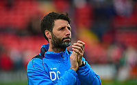 Lincoln City manager Danny Cowley during the pre-match warm-up <br /> <br /> Photographer Andrew Vaughan/CameraSport<br /> <br /> Vanarama National League - Lincoln City v Macclesfield Town - Saturday 22nd April 2017 - Sincil Bank - Lincoln<br /> <br /> World Copyright &copy; 2017 CameraSport. All rights reserved. 43 Linden Ave. Countesthorpe. Leicester. England. LE8 5PG - Tel: +44 (0) 116 277 4147 - admin@camerasport.com - www.camerasport.com