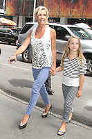 NEW YORK CITY, NY - August 07, 2012: Jennie Garth and daughter Lola Ray at Good Afternoon America in New York City. &copy; RW/MediaPunch Inc. /NortePhoto.com<br />