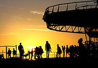 Pier van Scheveningen bij ondergaande zon