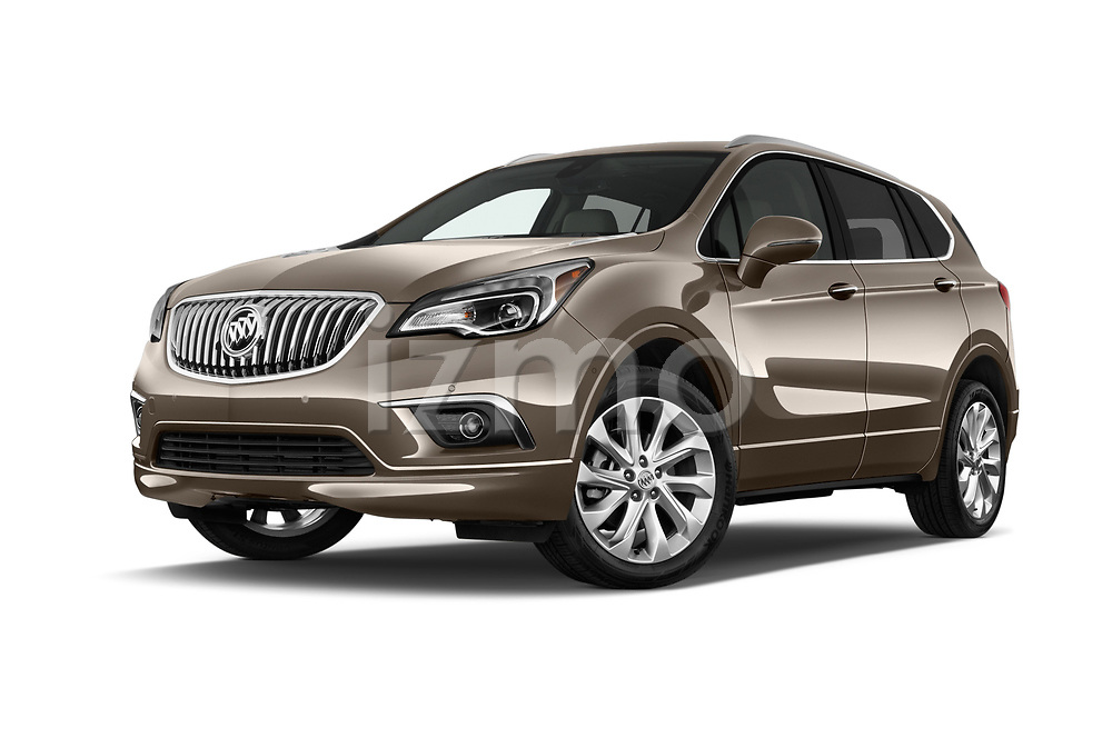 Stock pictures of low aggressive front three quarter view of 2018 Buick Envision Premium-II-AWD 5 Door SUV Low Aggressive
