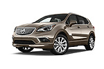 Stock pictures of low aggressive front three quarter view of 2016 Buick Envision Premium-II-AWD 5 Door SUV Low Aggressive