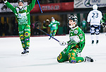 Stockholm 2015-01-30 Bandy Elitserien Hammarby IF - Sandvikens AIK :  <br /> Hammarbys Adam Gilljam friar sitt 5-4 m&aring;l under matchen mellan Hammarby IF och Sandvikens AIK <br /> (Foto: Kenta J&ouml;nsson) Nyckelord:  Elitserien Bandy Zinkensdamms IP Zinkensdamm Zinken Hammarby Bajen HIF Sandviken SAIK jubel gl&auml;dje lycka glad happy