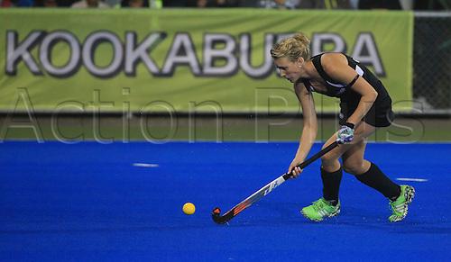 09.04.2016. Hastings, New Zealand.  New Zealand's Emily Gaddum in action. NZL Black Sticks Women versus  Australia. Semi final, Festival of Hockey, Unison Hockey turf, Hastings, New Zealand. Saturday, 09 April, 2016.