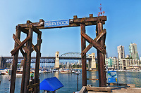 A view of the Granville Island Vancouver Ferry Dock.