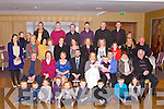 BABY JOY: Proud parents Mary and Eddie Houlihan, Ballyconry, Lisselton (seated 5th & 6th left) of little Jack Edward who was Christening by Fr David Gunn at St Theresa's Church, Ballydonoghue and celebrated afterwards with family and friends at the Carlton hotel, Tralee on Saturday.