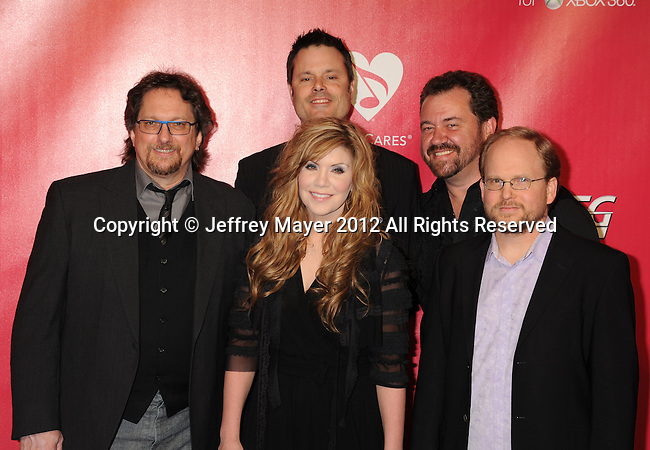 LOS ANGELES, CA - FEBRUARY 10: Alison Krauss and Union Station arrive at The 2012 MusiCares Person of The Year Gala Honoring Paul McCartney at Los Angeles Convention Center on February 10, 2012 in Los Angeles, California.