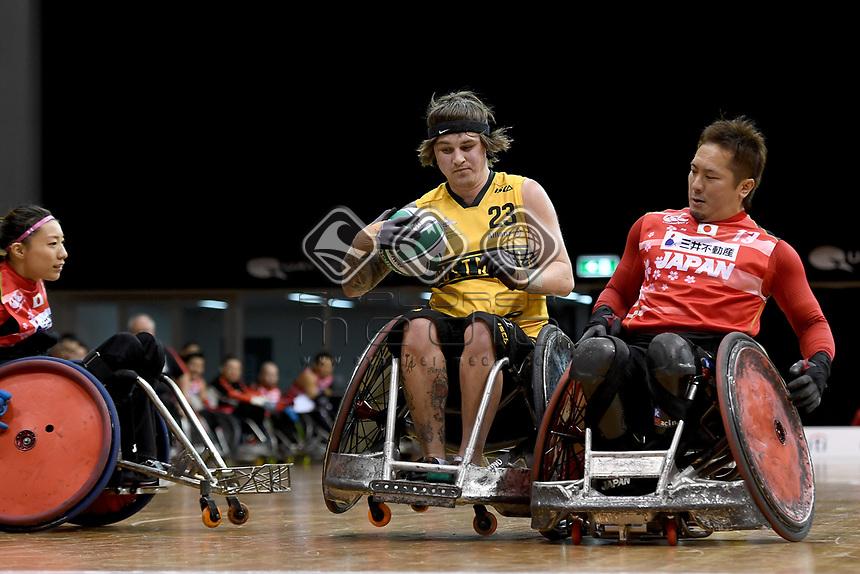 Jayden Warn (AUS)  vs Japan<br /> Australian Wheelchair Rugby Team<br /> 2018 IWRF WheelChair Rugby <br /> World Championship / Day 4<br /> Sydney  NSW Australia<br /> Wednesday 8th August 2018<br /> © Sport the library / Jeff Crow / APC