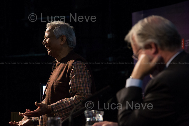 """London 20/05/2013. Today, the LSE (London School of Economics) presented a public lecture called """"Banker to the Poor: Lifting Millions Out of Poverty through Social Business"""" hosted by Professor Muhammad Yunus (Bangladeshi Professor of economics, he developed the concepts of microcredit and microfinance; in 2006 Yunus and Grameen Bank received the Nobel Peace Prize """"for their efforts through microcredit to create economic and social development from below""""; in 2010 he was awarded the U.S. Congressional Gold Medal in 2010). Chair of the event was Professor Craig Calhoun (American sociologist and Director of LSE).<br /> <br /> Here there is the link to the podcast (and video) to listen the lecture: http://bit.ly/165eLra"""