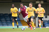 Matt Rush, Southend United, brings the ball out of defence during Southend United vs West Ham United Under-21, EFL Trophy Football at Roots Hall on 8th September 2020