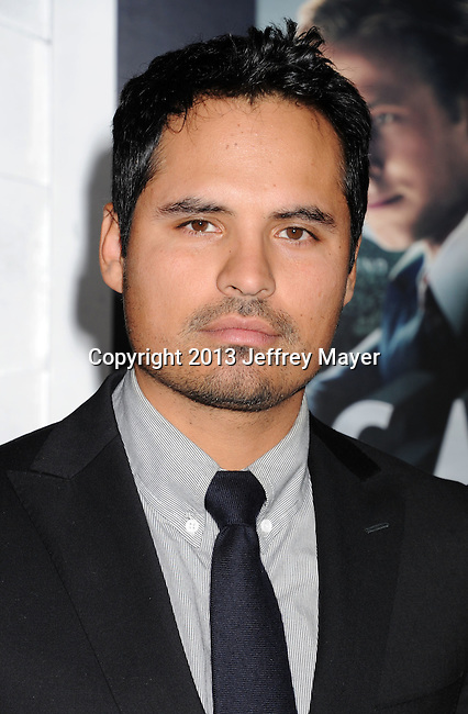 HOLLYWOOD, CA - JANUARY 07: Michael Pena arrives at the 'Gangster Squad' - Los Angeles Premiere at Grauman's Chinese Theatre on January 7, 2013 in Hollywood, California.