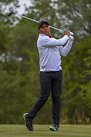 Harold Varner III (USA) watches his tee shot on 15 during Round 2 of the Valero Texas Open, AT&T Oaks Course, TPC San Antonio, San Antonio, Texas, USA. 4/20/2018.<br /> Picture: Golffile | Ken Murray<br /> <br /> <br /> All photo usage must carry mandatory copyright credit (© Golffile | Ken Murray)