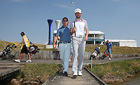 Gregory Bourdy (FRA) crossing the bridge to the 18th during the preview days of the 2015 Alstom Open de France, played at Le Golf National, Saint-Quentin-En-Yvelines, Paris, France. /01/07/2015/. Picture: Golffile | David Lloyd<br /> <br /> All photos usage must carry mandatory copyright credit (&copy; Golffile | David Lloyd)