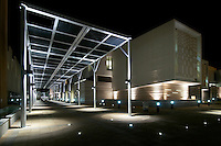 Al Ain University outdoor area at night