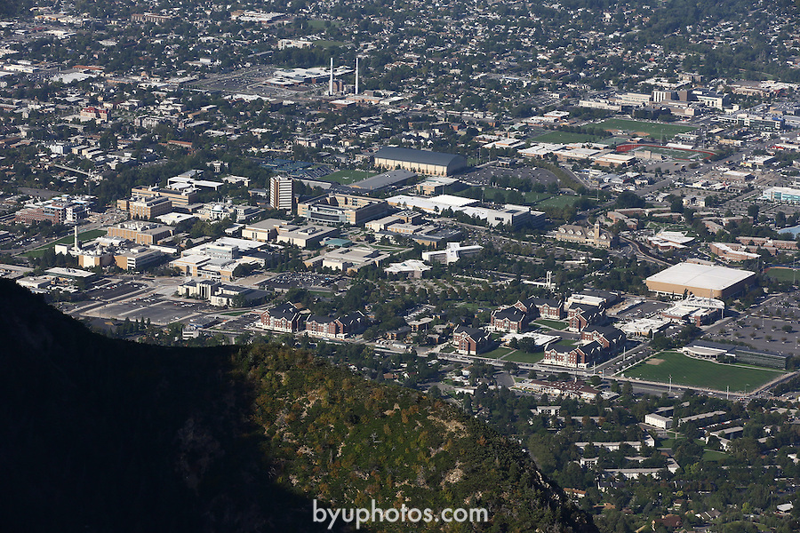 1309-22 1564<br /> <br /> 1309-22 BYU Campus Aerials<br /> <br /> Brigham Young University Campus, Provo, <br /> <br /> East Campus at Sunrise, East looking West, Provo, Y Mountain. <br /> <br /> September 7, 2013<br /> <br /> Photo by Jaren Wilkey/BYU<br /> <br /> &copy; BYU PHOTO 2013<br /> All Rights Reserved<br /> photo@byu.edu  (801)422-7322