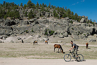 The mountains surrounding Creel, at around 7,500 feet of elevation, offer great mountain biking and trails for hiking, as well as fertile land for the local farming communities...PHOTOS/ MATT NAGER
