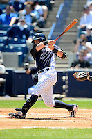 New York Yankees catcher Francisco Cervelli #29 during a Spring Training game against the Pittsburgh Pirates at Legends Field on March 28, 2013 in Tampa, Florida.  (Mike Janes/Four Seam Images)