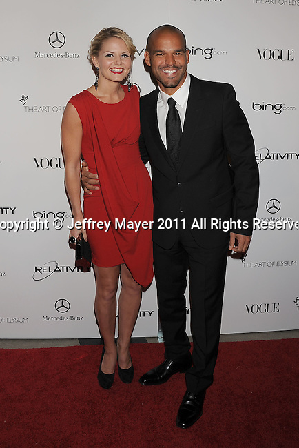 "LOS ANGELES, CA - January 15: Jennifer Morrison and Amaury Nolasco arrive at Art Of Elysium's 4th Annual ""Heaven"" Charity Gala at California Science Center's Wallis Annenberg Building on January 15, 2011 in Los Angeles, California."