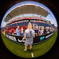 Bridgeview, IL - Sunday September 03, 2017: Samantha Mewis, fans during a regular season National Women's Soccer League (NWSL) match between the Chicago Red Stars and the North Carolina Courage at Toyota Park. The Red Stars won 2-1.