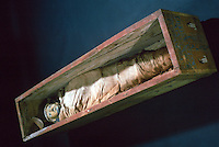 Egyptian Mummies and Coffins:  Mummy of Ankhef. 11th Dynasty, c. 2020 BC.  Trustees of the British Museum 1986.  Reference on.y