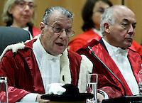 Il Presidente della Corte d'Appello di Roma Giorgio Santacroce parla alla cerimonia di inaugurazione dell'Anno Giudiziario, a Roma, 29 gennaio 2011..UPDATE IMAGES PRESS/Riccardo De Luca