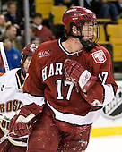 Tyler Magura (Harvard University - Fargo, ND) - The Boston College Eagles defeated the Harvard University Crimson 3-1 in the first round of the 2007 Beanpot Tournament on Monday, February 5, 2007, at the TD Banknorth Garden in Boston, Massachusetts.  The first Beanpot Tournament was played in December 1952 with the scheduling moved to the first two Mondays of February in its sixth year.  The tournament is played between Boston College, Boston University, Harvard University and Northeastern University with the first round matchups alternating each year.
