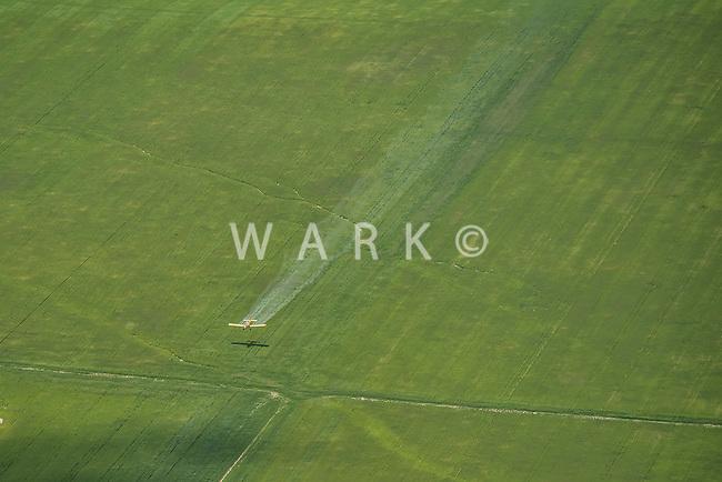 Crop duster. Elbert County, Colorado.