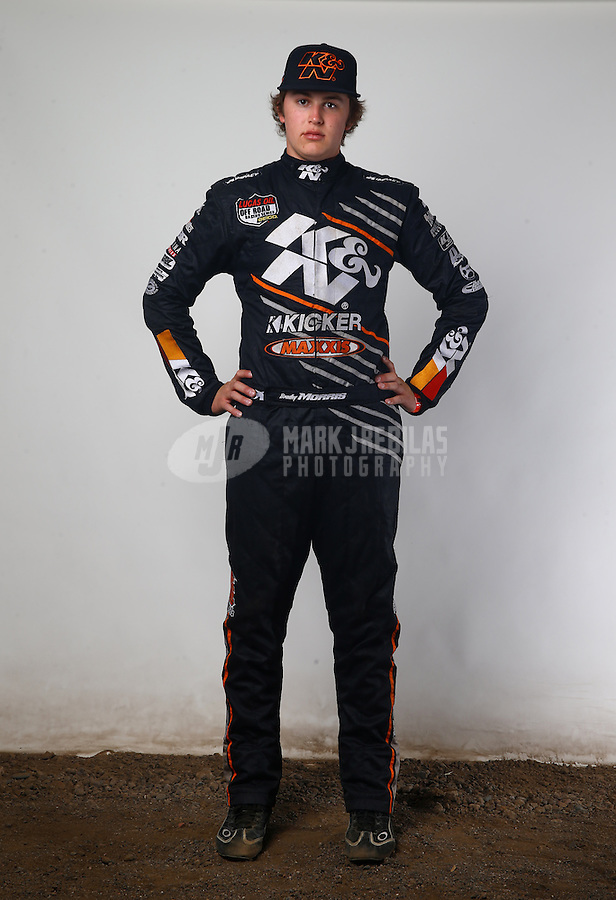 Mar. 21, 2014; Chandler, AZ, USA; LOORRS pro buggy/pro lite driver Bradley Morris poses for a portrait prior to round one at Wild Horse Motorsports Park. Mandatory Credit: Mark J. Rebilas-USA TODAY Sports