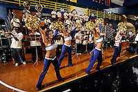 14 November 2008:  FIU's Golden Dazzlers and band entertain the crowd during the FIU 57-54 victory over Eastern Kentucky at FIU Arena in Miami, Florida.