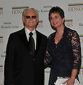 George Jones, who is one of the 2008 Kennedy Center honorees arrives with his wife, Nancy, for the formal Artist's Dinner at the United States Department of State in Washington, D.C. on Saturday, December 6, 2008..Credit: Ron Sachs / CNP