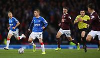 3rd November 2019; Hampden Park, Glasgow, Scotland; Scottish League Cup Football, Rangers versus Heart of Midlothian; Steven Davis of Rangers on the ball - Editorial Use
