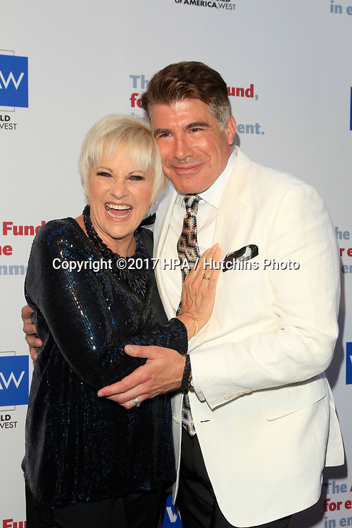 LOS ANGELES - JUN 11:  Lorna Luft, Bryan Batt at the Actors Fund's 21st Annual Tony Awards Viewing Party at the Skirball Cultural Center on June 11, 2017 in Los Angeles, CA