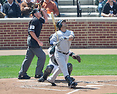 Baltimore, MD - April 9, 2009 -- New York Yankee right fielder Nick Swisher (33) follows the flight of the ball in the second inning against the Baltimore Orioles at Oriole Park at Camden Yards in Baltimore, MD on Thursday, April 9, 2009..Credit: Ron Sachs / CNP.(RESTRICTION: NO New York or New Jersey Newspapers or newspapers within a 75 mile radius of New York City)