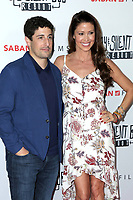 "LOS ANGELES - OCT 15:  Jason Biggs, Shannon Elizabeth at the ""Jay & Silent Bob Reboot"" Los Angeles Premiere at the TCL Chinese Theater on October 15, 2019 in Los Angeles, CA"