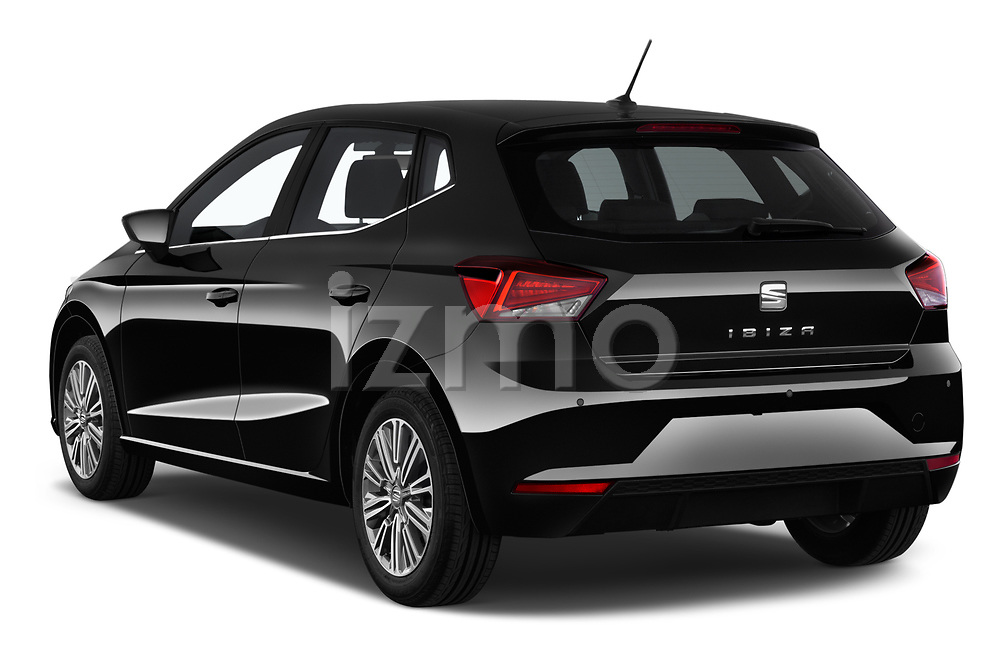 Car pictures of rear three quarter view of 2018 Seat Ibiza Xcellence 5 Door Hatchback angular rear
