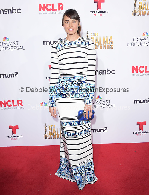 Mia Maestro attends The 2014 NCLR Alma Awards held at The Pasadena Civic Center in Pasadena, California on October 10,2014                                                                               © 2014 Hollywood Press Agency