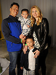 Jennifer and Minsu Kim with their children Jacob and at the MD Anderson Children's Cancer Hospital, Bunny Hops and Photo Ops at The Galleria Saturday March 21,2016.(Dave Rossman Photo)