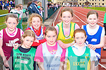 Front row l-r: Bla?iti?n Griffin Spa/Fenit/Barrow, Laura McElligott St Brendan's, Bronagh Finnegan Riocht. Back row: Shauna Holly Listowel, Grace Hickey Tralee Harriers, Orla Coffey Gneeveguilla and Margaret Stackpoole Estuary who ran at the Juvenile Athletic Championships in Castleisland on Sunday      Copyright Kerry's Eye 2008