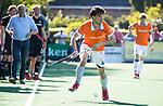 BLOEMENDAAL   - Hockey -  2e wedstrijd halve finale Play Offs heren. Bloemendaal-Amsterdam (2-2) . A'dam wint shoot outs. Florian Fuchs (Bldaal)  COPYRIGHT KOEN SUYK