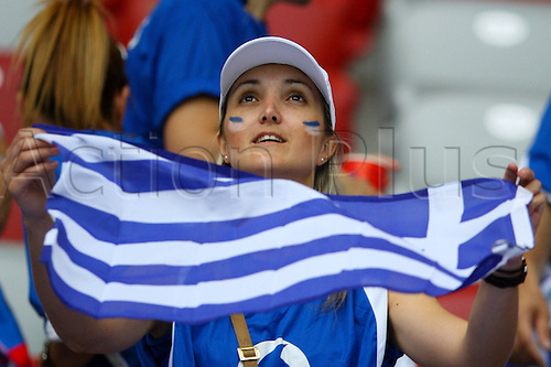 16.06.2012. Warsaw, Poland. EUROPEAN CHAMPIONSHIP, GREECE - RUSSIA, Fans in the stands before the game starts