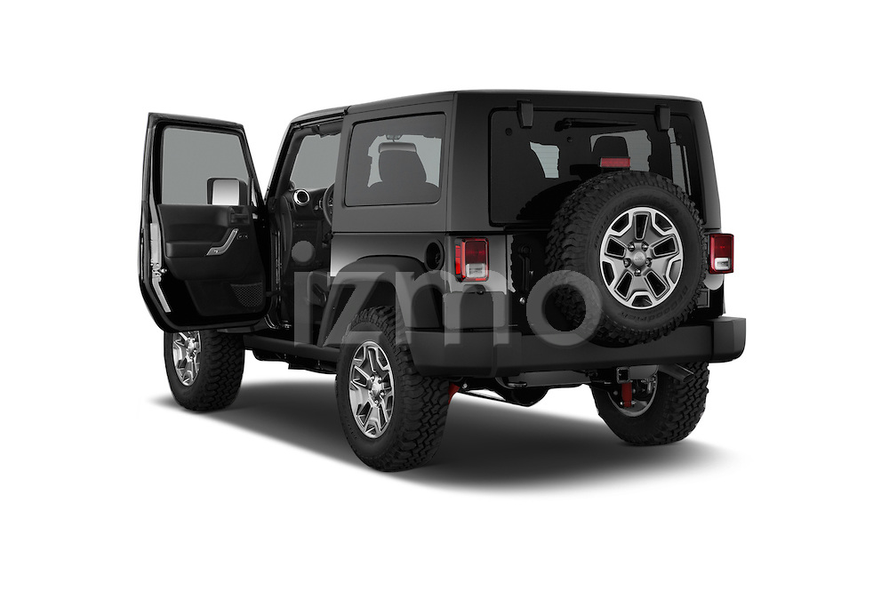 Car images close up view of a 2014 Jeep Wrangler Rubicon 5 Door SUV doors