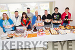 Coffee morning and Cake sale Fundraiser in aid of Crohn's and Colitis also child aid at the Shannakill  family resource centre on Friday Pictured l-r Aenito Agnen, Tom Moriarty, Cathy Moriarty, Paul Walsh, Jodie Walsh, Regina O'Connor, Patrick Moriarty, Aurelien Bigois and Anjele Demeurant