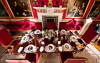 BNPS.co.uk (01202 558833)<br /> Pic: PhilYeomans/BNPS<br /> <br /> The dinner parties read like a Whos who of 1920's society.<br /> <br /> Let's Misbehave - A fascinating insight into the heady world of the upper classes in the roaring twenties has opened at Blenheim Palace.<br /> <br /> The 9th Duke of Marlborough and his second wife, American intellectual Gladys Deacon, were lavish hosts at the baroque Oxfordshire Palace.<br /> <br /> Their frequent house parties in a time of great social, artistic and political change were attended by friends as diverse as Winston Churchill, Edith Sitwell, Jacob Epstein and Bloomsbury set founders Lytton Strachey and Virginia Woolf.<br /> <br /> The exhibition showcases their lavish lifestyles in a series of scenes within the Palaces elegant State Rooms.<br /> <br /> Actors portraying the leading characters interact with the visiting public to give a flavour of the famously decadent decade.