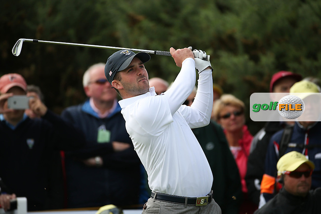 Denny McCarthy (USA) during Sunday morning Foursome matches of The Walker Cup 2015 played at Royal Lytham and St Anne's, Lytham St Anne's, Lancashire, England. 13/09/2015. Picture: Golffile | David Lloyd<br /> <br /> All photos usage must carry mandatory copyright credit (&copy; Golffile | David Lloyd)