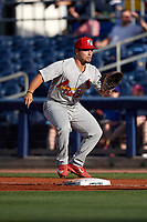 Palm Beach Cardinals first baseman Chris Chinea (5) during a game against the Charlotte Stone Crabs on April 11, 2017 at Charlotte Sports Park in Port Charlotte, Florida.  Palm Beach defeated Charlotte 12-6.  (Mike Janes/Four Seam Images)