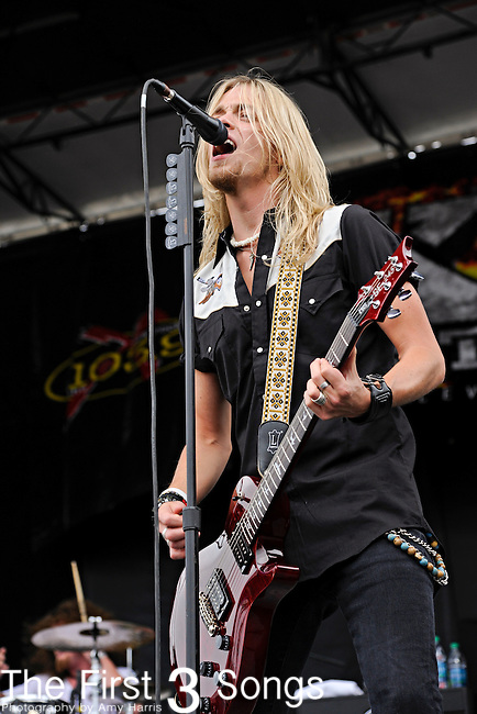 Ben Wells of Black Stone Cherry performs during X-Fest 2011 at the Montgomery County Fairgrounds in Dayton, Ohio on September 18, 2011.