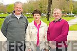 Enjoying the Hospice walk in Muckross Killarney on Friday were Paddy O'Sullivan with  Irene and Denis O'Keeffe, Kilcummin....... ..........................